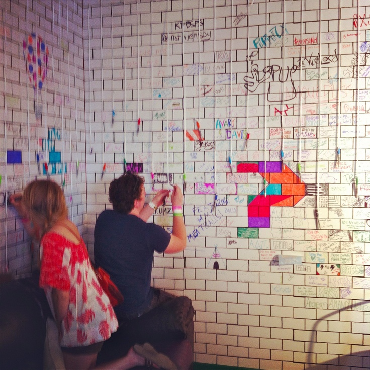 Wall of Signatures @ The Fader Fort 2012