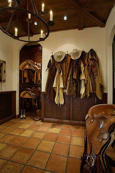 western style tack room... :)......there are tack rooms and then there are TACK ROOMS!