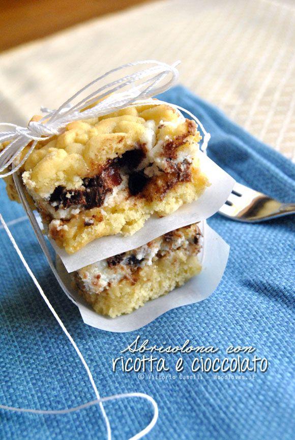La torta Sbriciolata con ricotta e cioccolato! - Noodloves