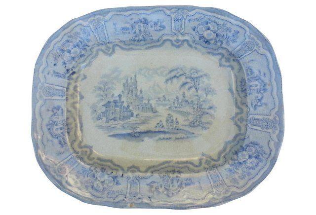 Blue & White Victorian Platter