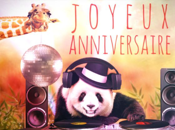 panda dj souhaite joyeux anniversaire projects to try pinterest souhaiter joyeux. Black Bedroom Furniture Sets. Home Design Ideas