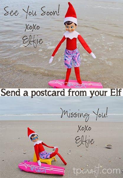 TPcraft.com: Send a Postcard from your Elf {Elf on the Shelf}