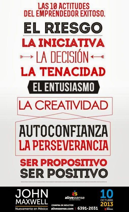 Las 10 actitudes del emprendedor exitoso  #frases #inspiracion #emprender