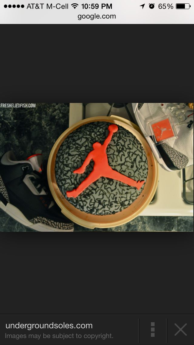 Round cake jump man for the special basket ball player in your life