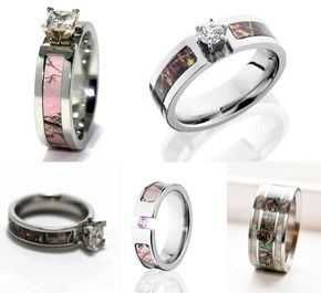 camo wedding rings for country rustic redneck wedding ideas 2014