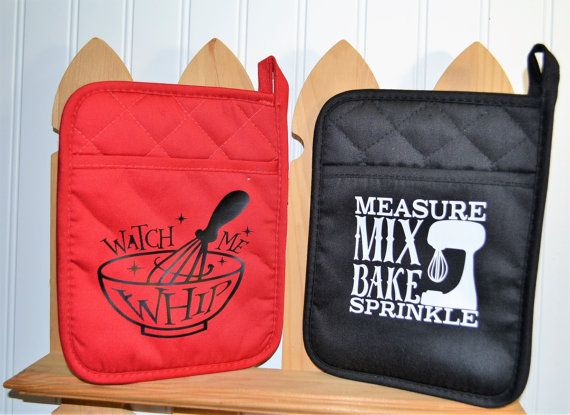 Oven Mitts Pot Holders With Sayings Pan Holder Hot Mitt