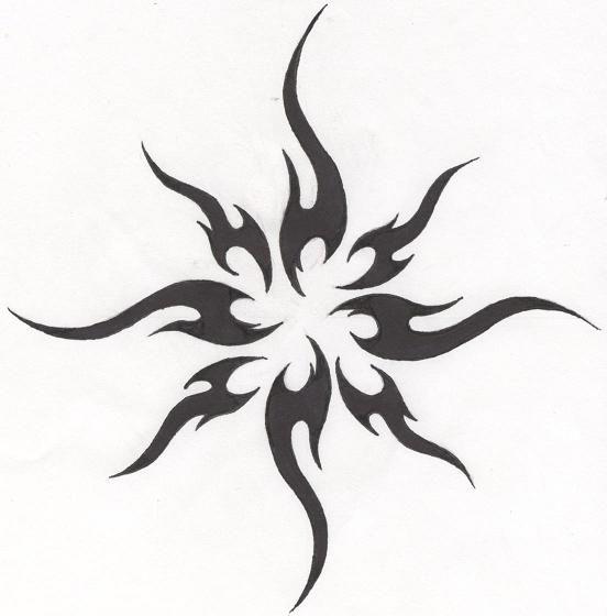 Tattoo-Tribal Sun by HollowMinded.deviantart.com