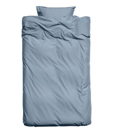 Påslakanset i tvättad bomull | Duvblå | H&M HOME | H&M SE