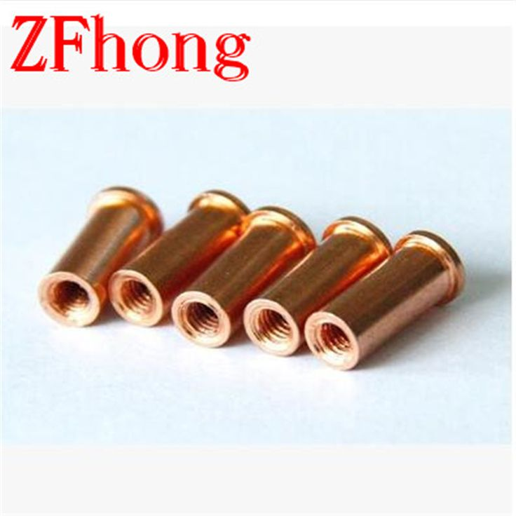 100pcs M6*6/8/10/12/15/20/25/30 steel with copper welding joints stepped needle fixed weld nuts