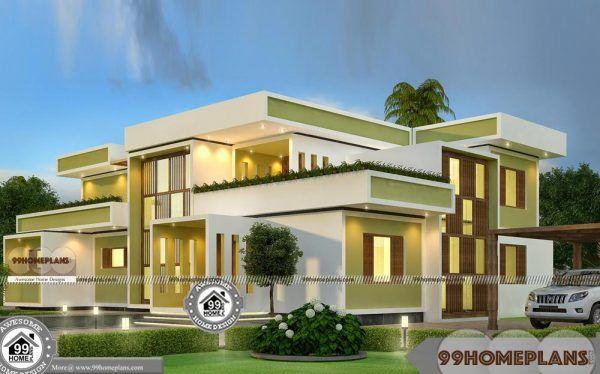 Square House Design Plans Double Floor Modern Box Type Home Models Home Design Plans Kerala House Design Home Building Design