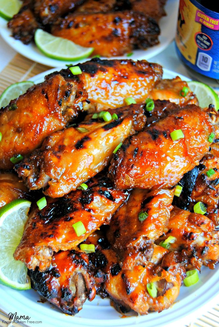 Gluten-Free Sticky Asian Wings are a perfect balance of sweet and tangy from the soy, apricot and lime sauce. Perfect for game-day or your next party.