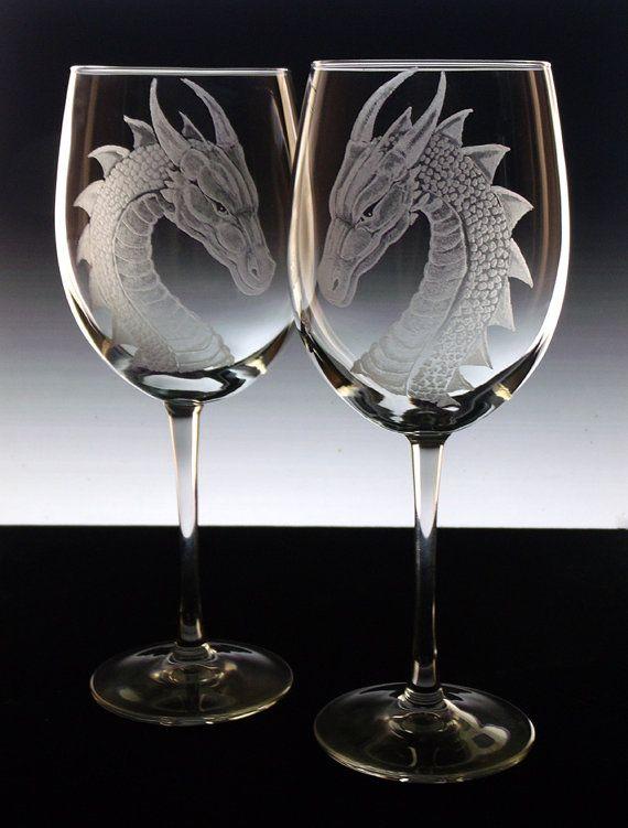 Hey, I found this really awesome Etsy listing at https://www.etsy.com/listing/160381119/dragon-wedding-glasses-bride-groom