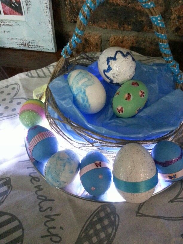 Hand and home made easter basket