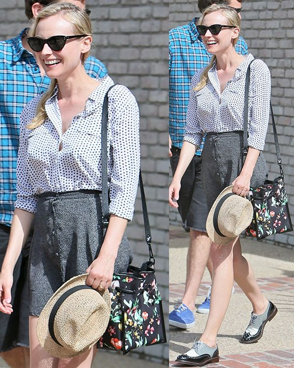 Diane Kruger leaving Joel Silver's Memorial Day Party at his home in Malibu, Los Angeles on May 27, 2013
