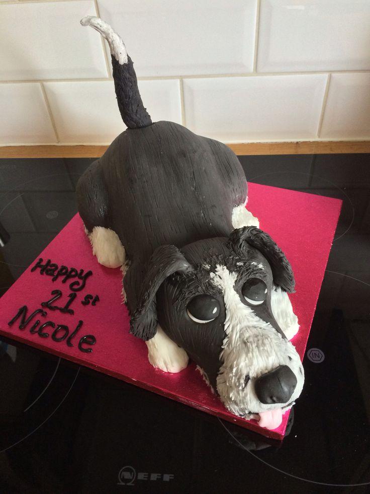 Border Collie Cake Dog Birthday Dog Cakes 60th