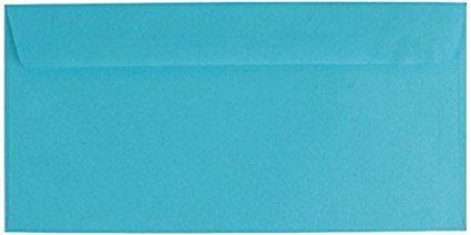 25 farbige Briefumschläge / Din lang / Farbe: blau