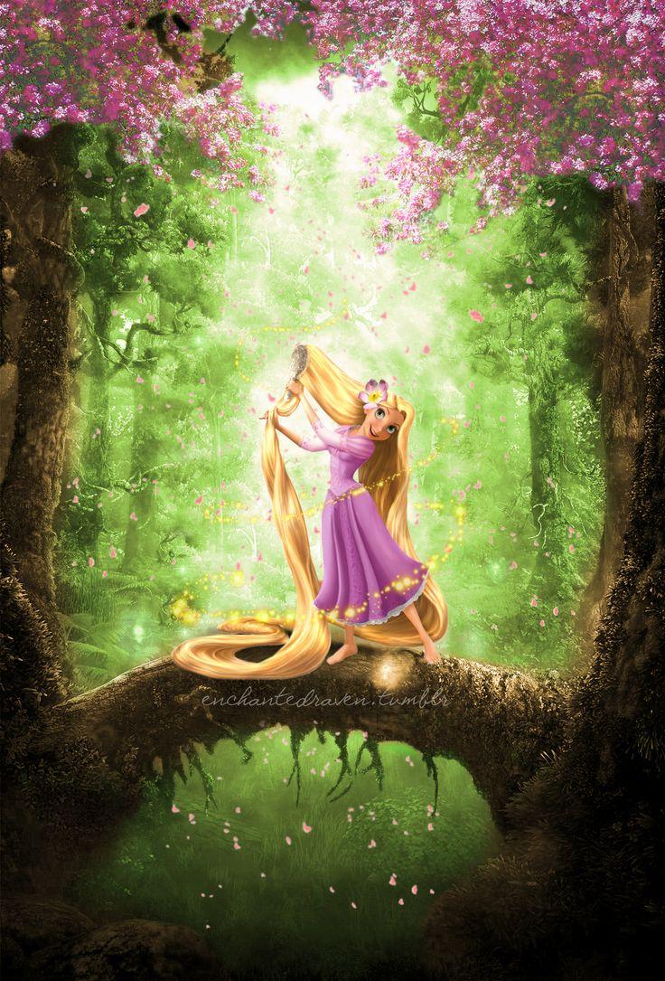 """Rapunzel """"Brush and brush and brush and brush my haaiirr"""""""