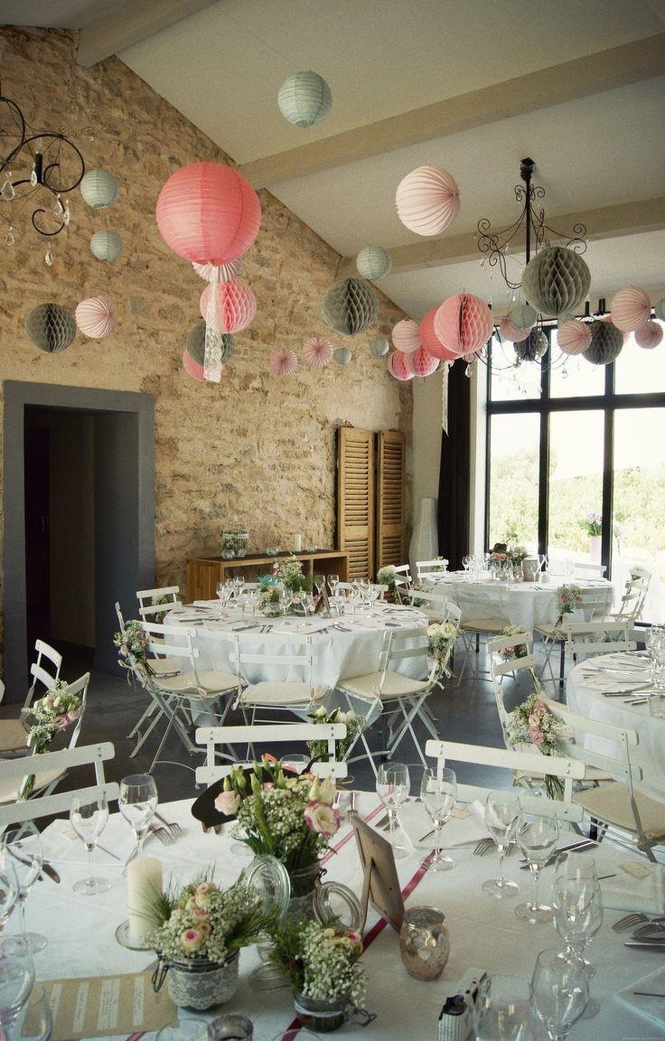 Mariage Sandra & Nicolas/ Un mariage romantique aux couleurs douces// Vue de la salle. La Belle Idée ©