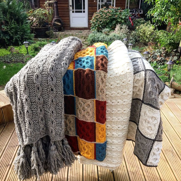 Have a look in my hand knitted blankets selection . Ready made and can be shipped ASAP . Different prices.  Knitatelier's shop on Etsy https://www.etsy.com/uk/shop/Knitatelier Knitatelier's shop on Etsy https://www.etsy.com/uk/shop/Knitatelier