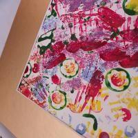 Printmaking Fun : Exploring colour with Stamps | reversegarbage.com.au