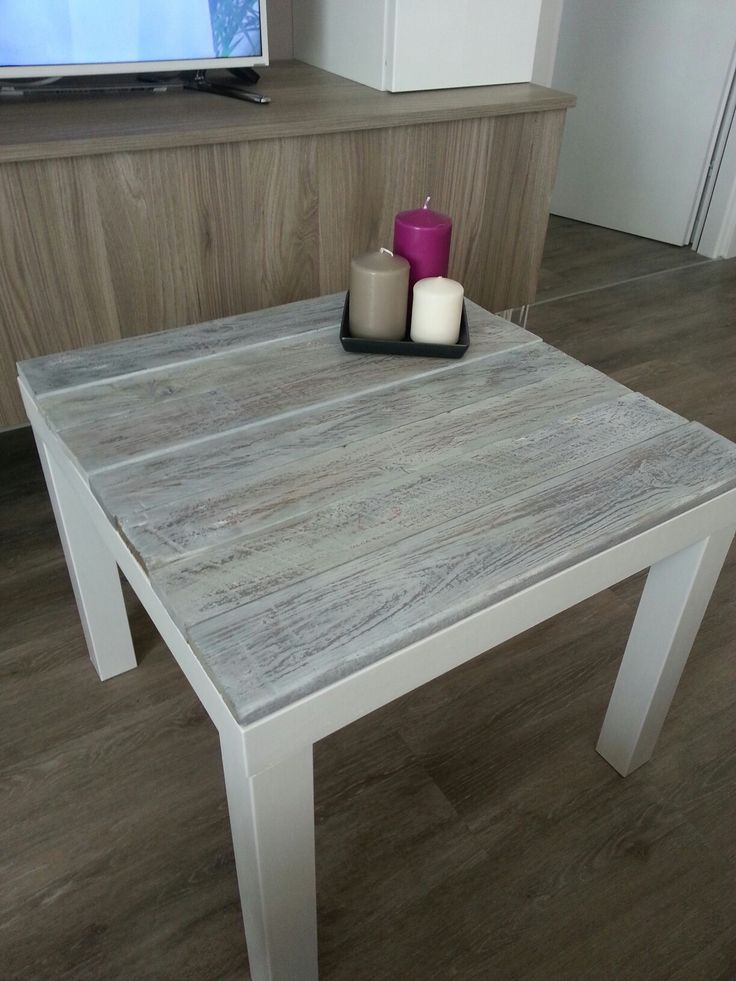 Ikea Lack table hack with pallet  shabby stile