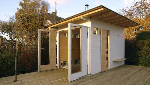 Outdoor sauna. Yes please.