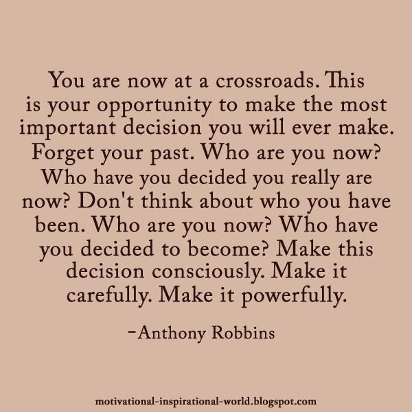 Inspirational Crossroad Quotes | Found on twitter.com