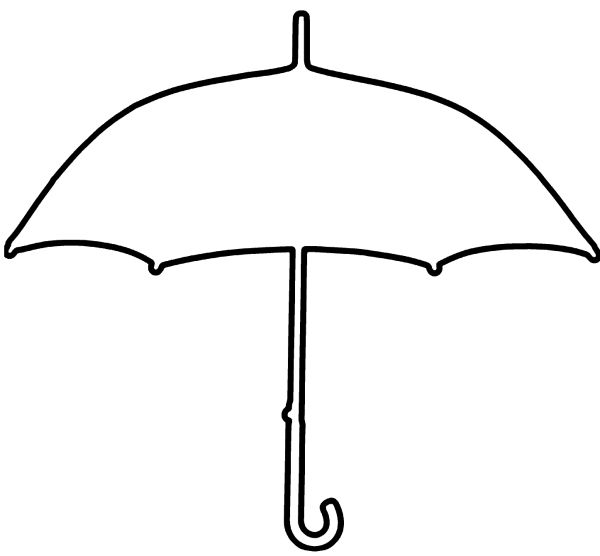Umbrella With Pleasure Coloring Pages