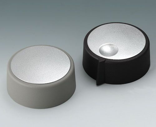 COM-KNOBS Deckel in edlem Metallic-Look   COM-KNOBS cover with a classy metallic look
