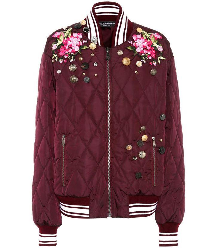 Dolce & Gabbana - Вышитая куртка бомбардировщика   mytheresa.com