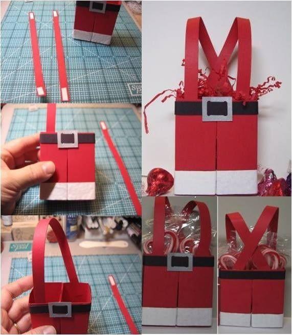 Reciclagem... Embalagens para o Natal. Podemos fazer com tetra pak... https://www.facebook.com/pages/Chiquinha-Artesanato/345067182280566