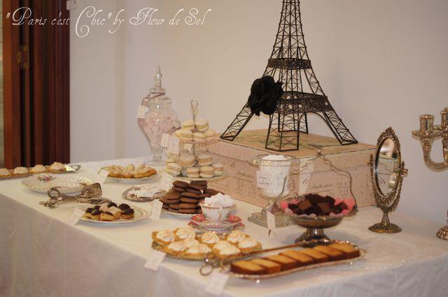 Parisian dessert table: Paris C Estes, Paris Chic, Parisians Desserts, Paris Cest, Homes Decoration Party, Parisians Dinners, Paris Desserts Tables Party, Vintage Paris Birthday, Birthday Party