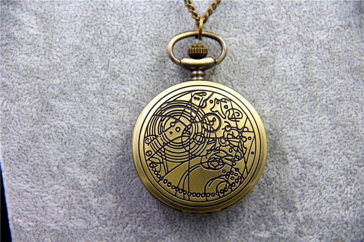 Fashion Jewelry Vintage TARDIS Necklace Doctor Who Pocket Watches Necklace Gallifreyan Necklace Dia45mm