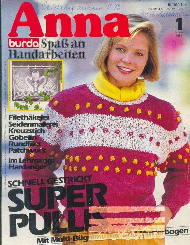ANNA BURDA Spaß an Handarbeiten 1984 1