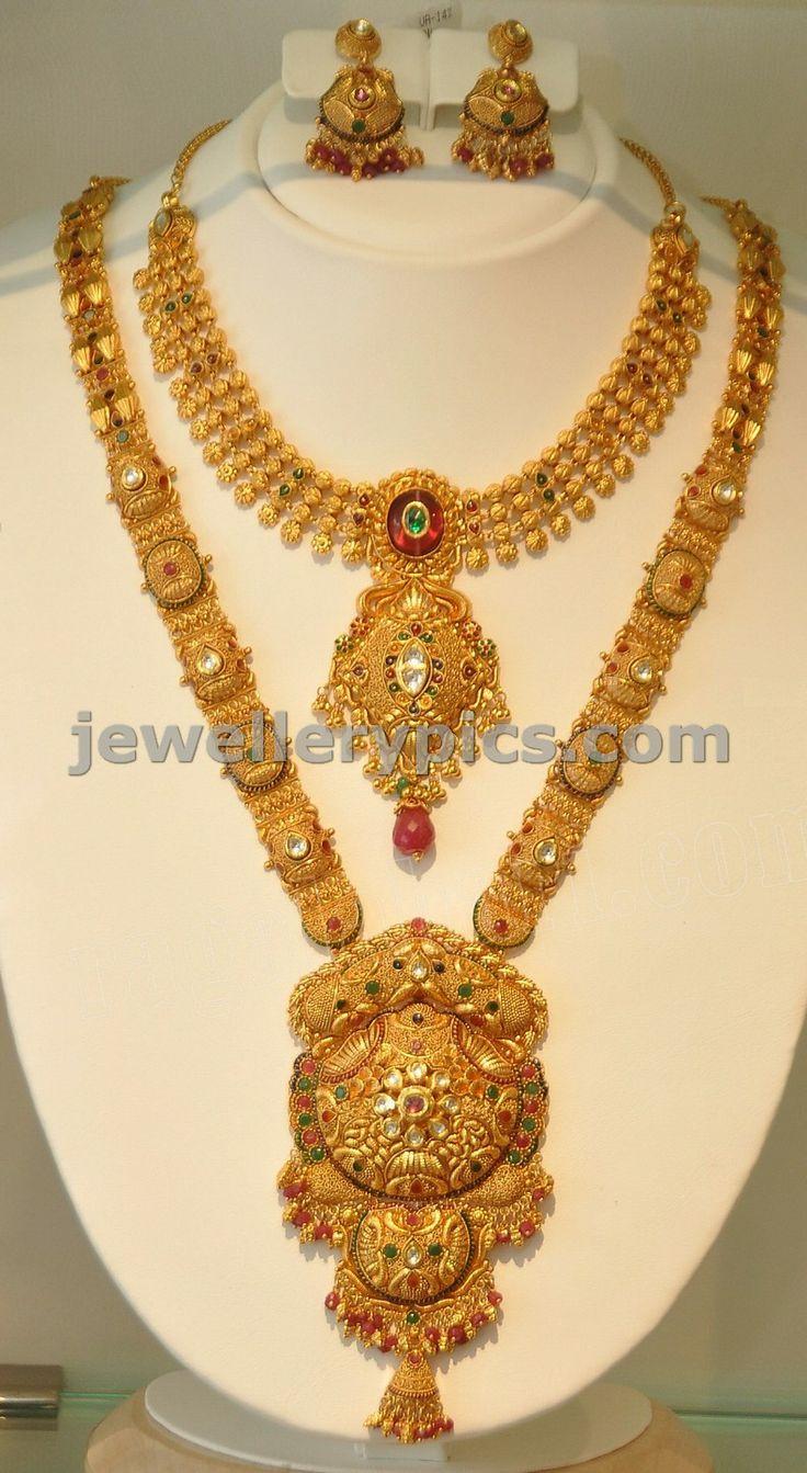Suhasini in gundla haram jewellery designs - Khazana Gold Haram Long Necklace Designs Latest Jewellery Designs