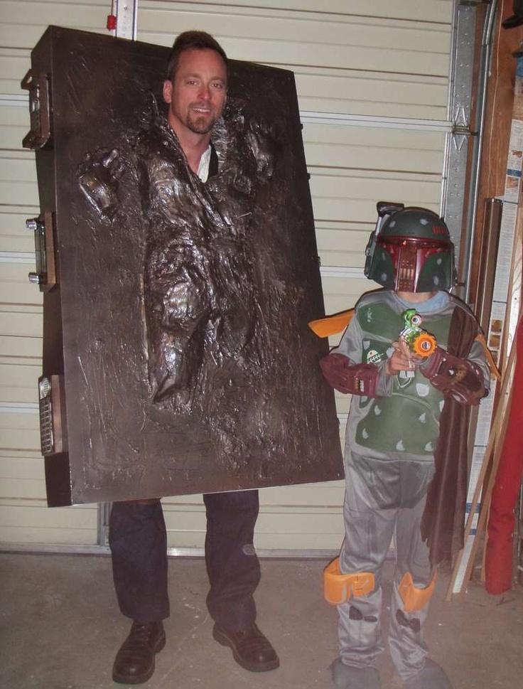 DIY Han Solo in Carbonite Costume #DIY #costume #halloween