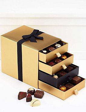 Belgian 4 Tier Luxury Chocolate Gift Box from Mu0026S & Best 25+ Chocolate gift boxes ideas on Pinterest | Chocolate boxes ... Aboutintivar.Com