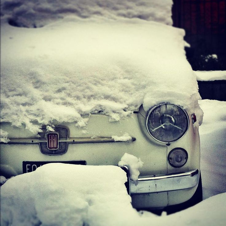 #neve & 500fiat #torino #winter #snow