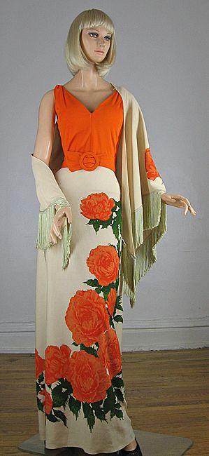 70s Alfred Shaheen Hawaiian Dress