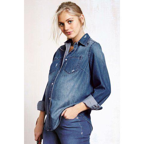 Chemise en jean manches longues femme maternité Next - 3Suisses