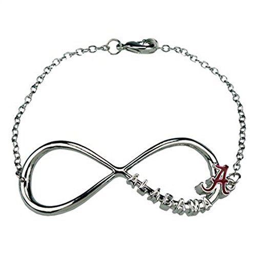 Alabama Crimson Infinity Bracelet Sports Team Accessories https://www.amazon.com/dp/B00YIB26Z4/ref=cm_sw_r_pi_dp_s4dCxbDZ47MS2