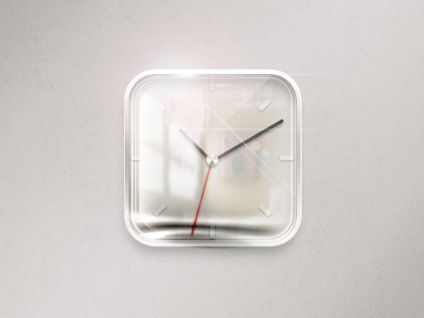 Clock iOS icon by Maksims Kirhensteins, via Behance