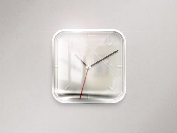 Clock iOS icon by Maksims Kirhensteins, via Behance