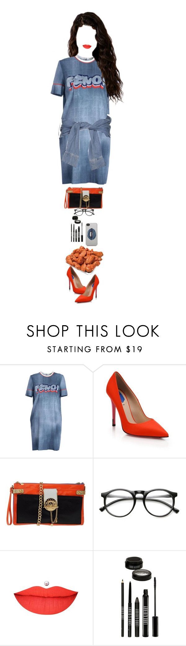 """at the Lakers VS Kings game at the Staples Center, Los Angeles"" by luxury-kamar ❤ liked on Polyvore featuring Fendi, River Island, Just Cavalli, Lord & Berry, Zero Gravity and INC International Concepts"