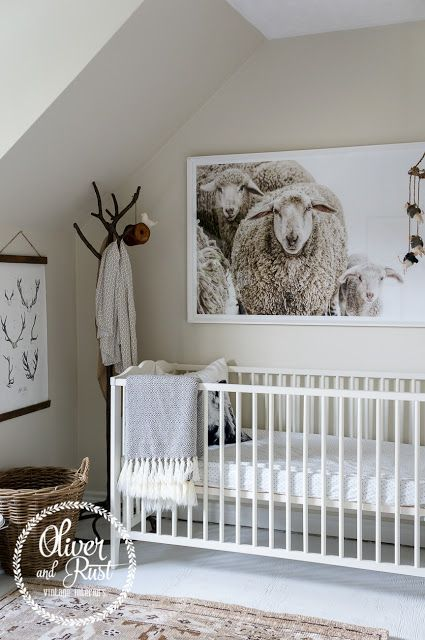 Oliver and Rust: girl neutral eclectic nursery