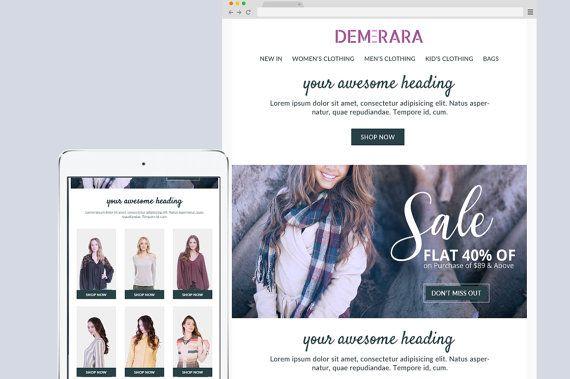 Email newsletter template Mailchimp by KalaAndHansujaStudio