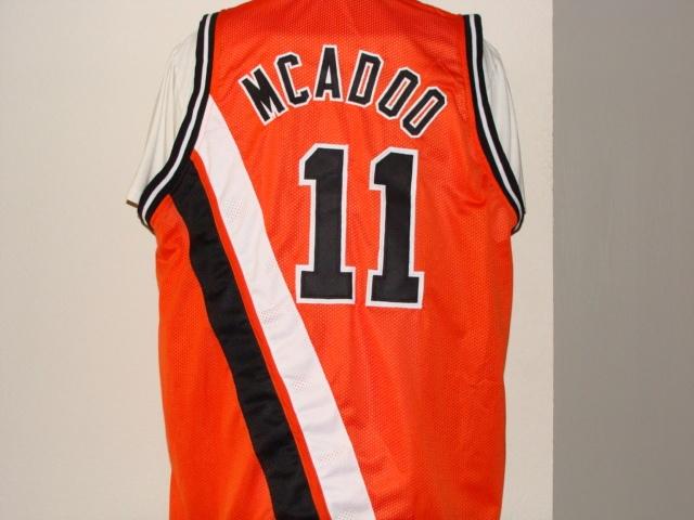 4a79ecf6d091  11 BOB McADOO Buffalo Braves NBA Center PF 1972-1976 Orange Throwback  Jersey.
