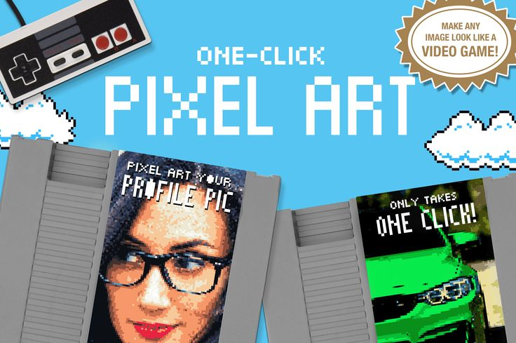 Pixel Art - One Click Actions by Josh Johnson on @creativemarket