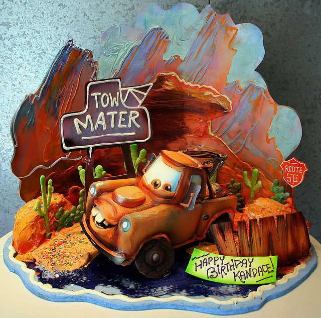 Mater, The Tow Truck Cake