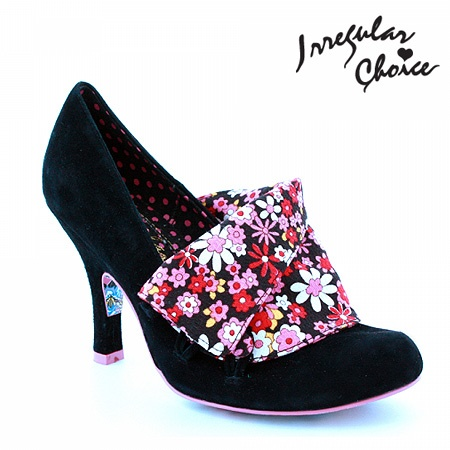 The most comfortable high heeled shoes I have ever worn.  And my Millie loves rubbing her face on them.  Irregular Choice Flick Flack Shoes Black